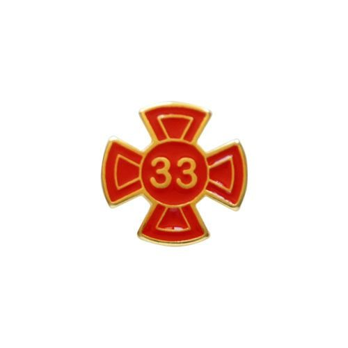 BT-044-V - Pin Grau 33 Vermelho