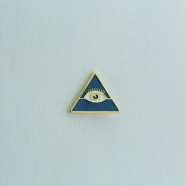 BT-054-A - Pin Triângulo Olho Azul