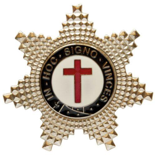 BT-077 - Pin Estrela de Irmão Cavaleiro Templário