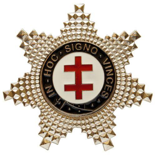 BT-078 - Boton Estrela de Preceptor Cavaleiro Templário