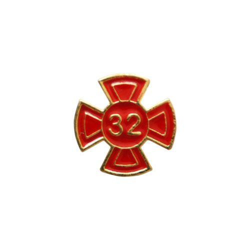 BT-096-V - Pin Grau 32 Vermelho