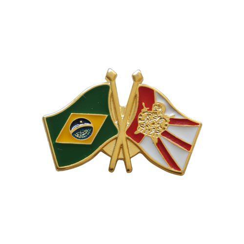 BT-101 - Pin Bandeira Brasil X Bandeira Demolay