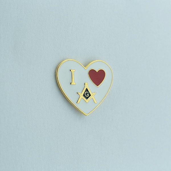 BT-137 - Pin Coração – I Love Maçonaria