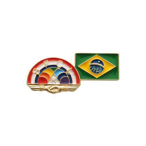 BT-153 - Pin Arco-Íris com Bandeira do Brasil