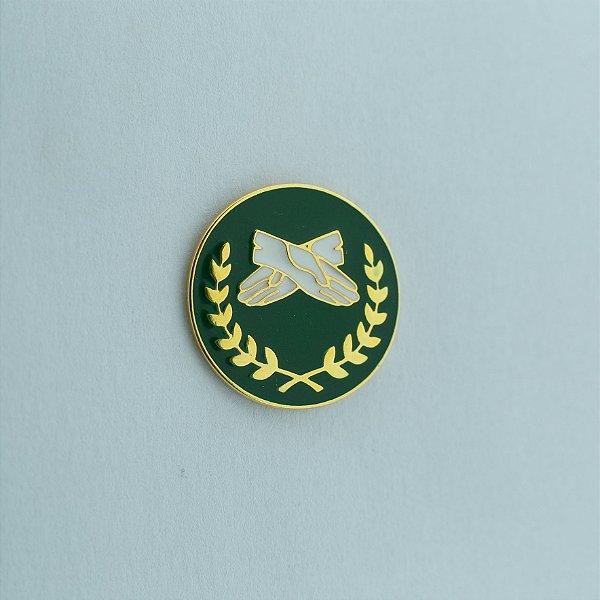 BT-223-VD - Pin Fraternidade Feminina Verde
