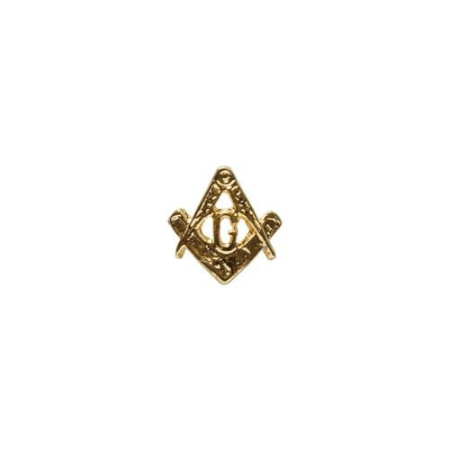 AP-001-D - Aplique Curvo para Caneta - Esquadro e Compasso Dourado