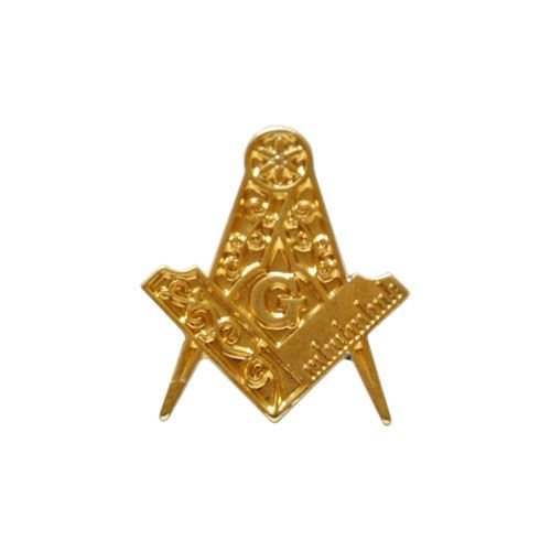 AP-008-D - Aplique Esquadro e Compasso Dourado - 2 cm