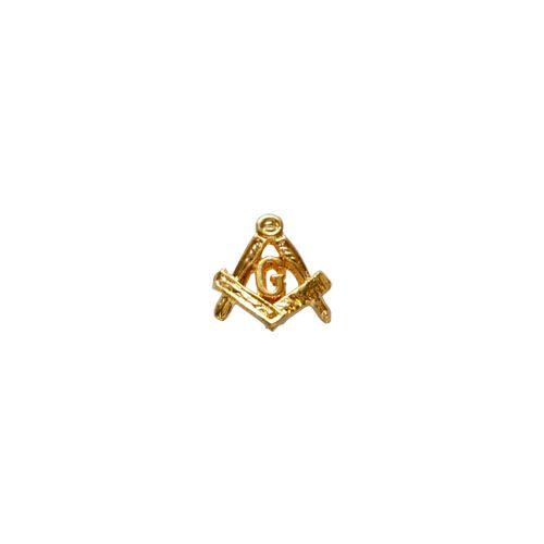 AP-012-D - Aplique Curvo para Caneta - Esquadro e Compasso Dourado Pequeno