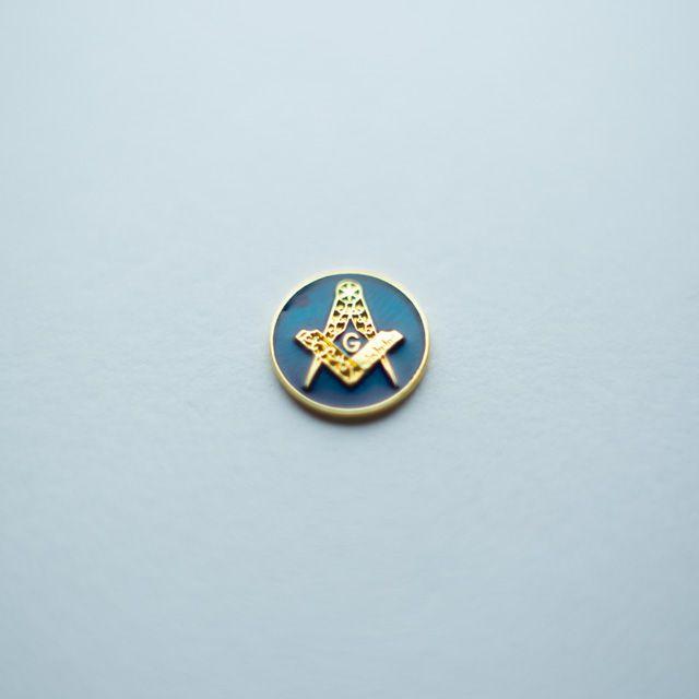 AP-016-A - Aplique Esquadro e Compasso Redondo Azul – 12 mm