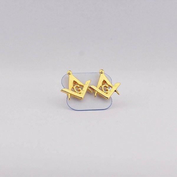 BR-001 - Brinco Esquadro e Compasso Dourado