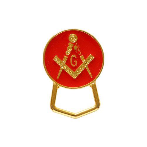 PO-003-V - Porta Óculos Esquadro e Compasso Redondo Vermelho