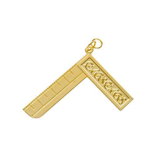 JO-048-D - Joia Venerável GOB ou Mestre Instalado - lados desiguais Dourado