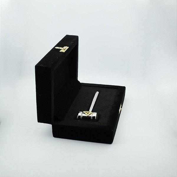 PR-001-N1 - Malhete Niquelado com Esquado e Compasso - Com Estojo