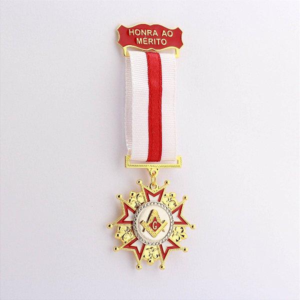 CO-005-V2 - Comenda Honra ao Mérito vermelho - Sem Estojo