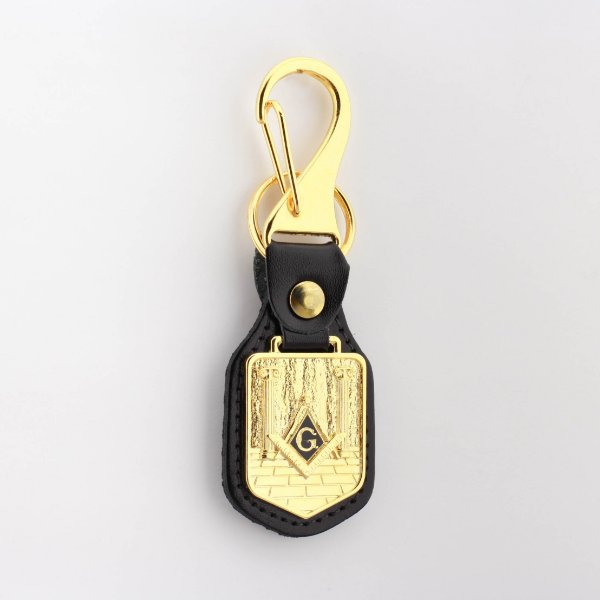 CH-073-D - Chav. Esquadro e Compasso Estandarte Dourado