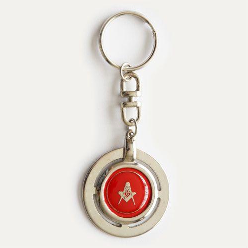 CH-003-V - Chav. Esquadro e Compasso Redondo Vermelho
