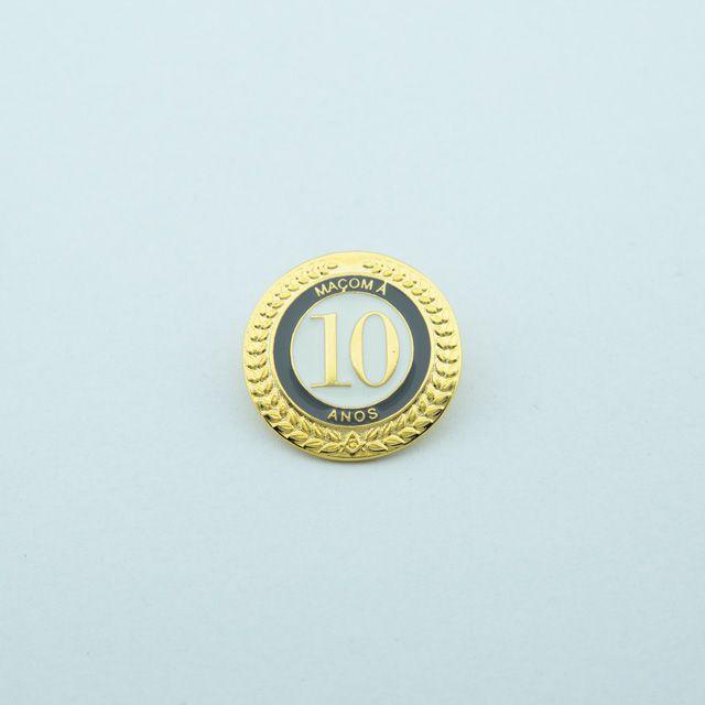 BT-271 - Pin Tempo de Maçonaria - 10 Anos