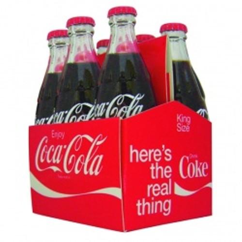 Engradado de Garrafas Decorativas Coca Cola