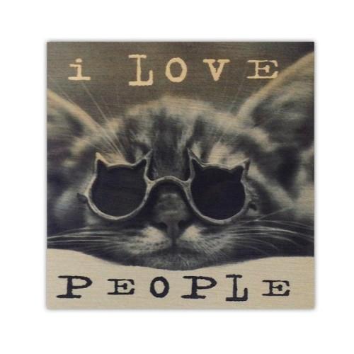 Quadro Gato I Love People