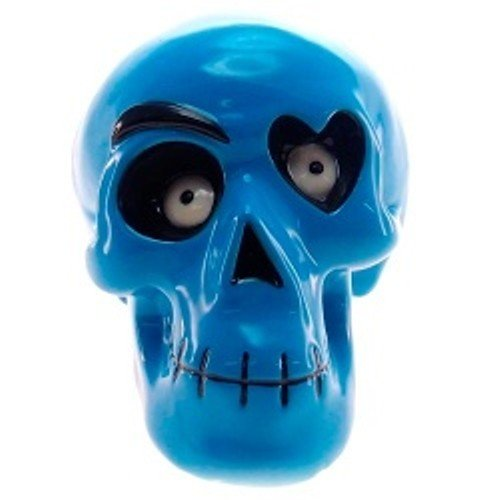 Cofre Decorativo Caveira Olho de Coração Azul