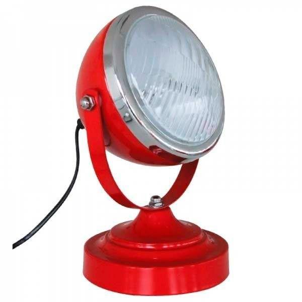 Luminária Farol de Fusca Vermelho