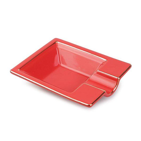 Cinzeiro de Ceramica para 1 Charuto Spheraf - Vermelho