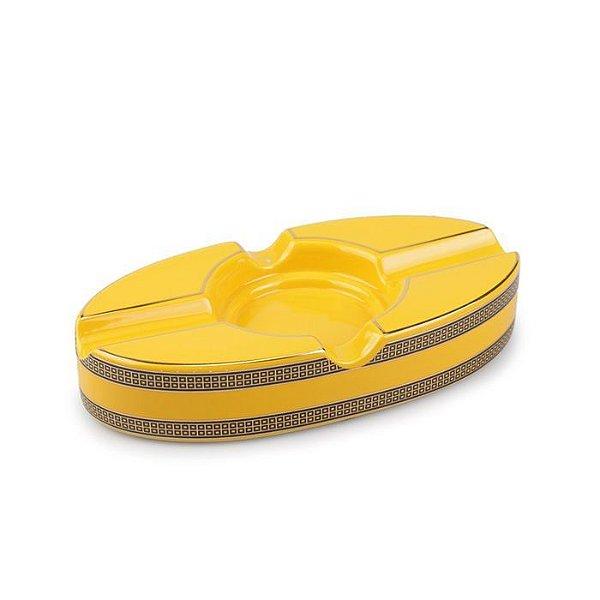 Cinzeiro de Ceramica para 2 Charutos Lakinsk - Amarelo