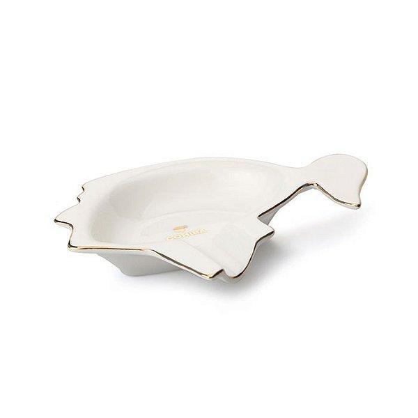 Cinzeiro de Porcelana para 1 Charuto Cohiba - Branco