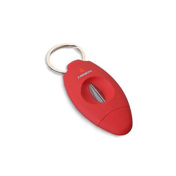 Cortador de Charutos Colibri Firebird Viper V-CUT - Vermelho