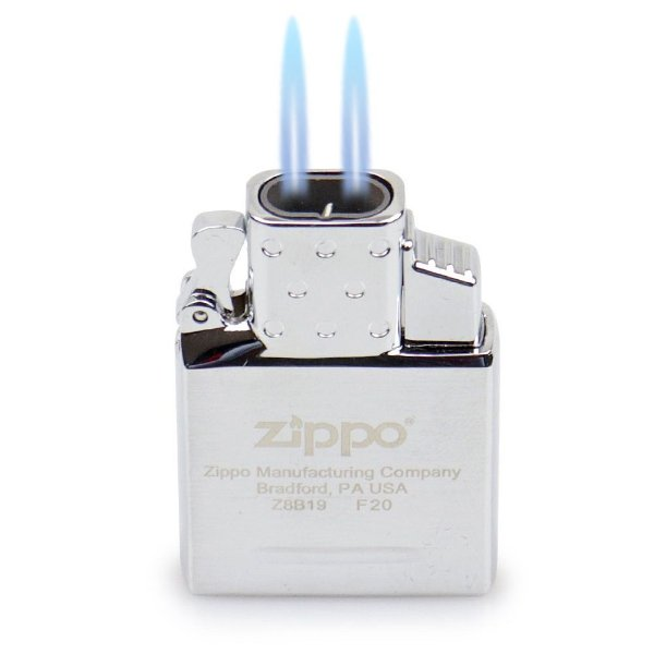 Isqueiro Maçarico Insert Zippo - Cromado (2 Chamas)