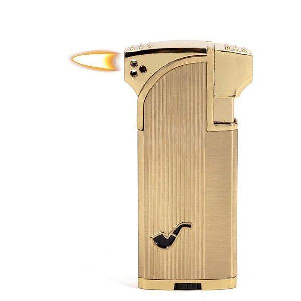 Isqueiro Jobon - Dourado Mod. 2 (Maçarico e Chama Normal)
