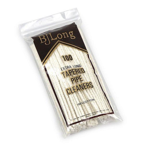 Limpador de Cachimbo de Algodão BJ Long Regular - Pacote com 100