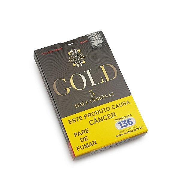 Charuto Alonso Menendez Gold Half Corona - Petaca com 5