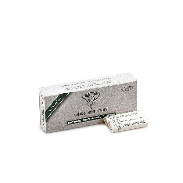 Filtro de 9mm para Cachimbo Meerschaum Elephant - Caixa com 20