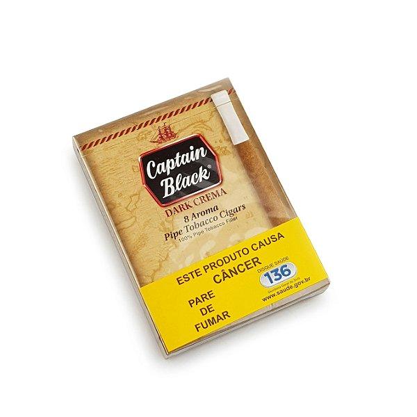 Cigarrilha Captain Black Dark Crema - Pt (8)