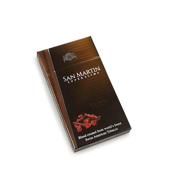 Cigarro San Martin Superslims Cravo - Mç (20)