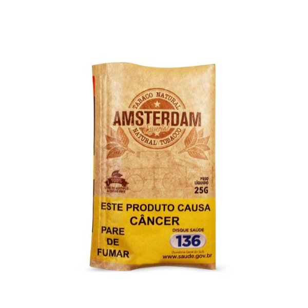 Tabaco para Enrolar Amsterdam Orgânico - Pct (25g)