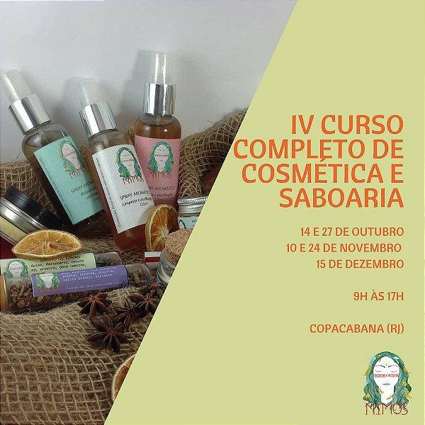 CURSO COMPLETO DE COSMÉTICA E SABOARIA RJ