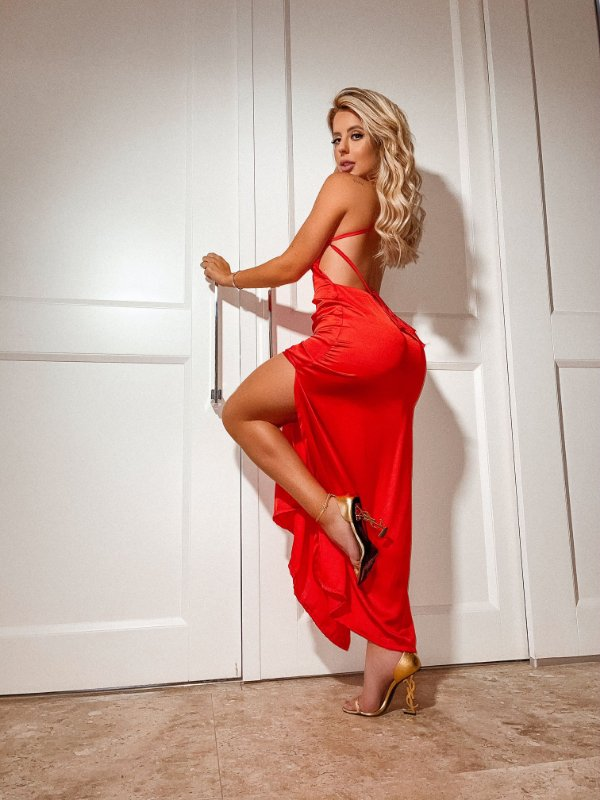 Vestido Longo Slip Dress Taynara Araujo