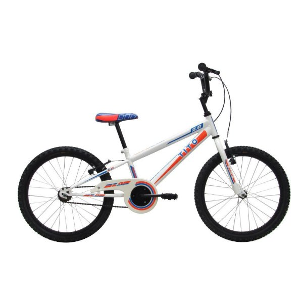 BIcicleta Infantil Tito Volt 2.0 Branca e Azul
