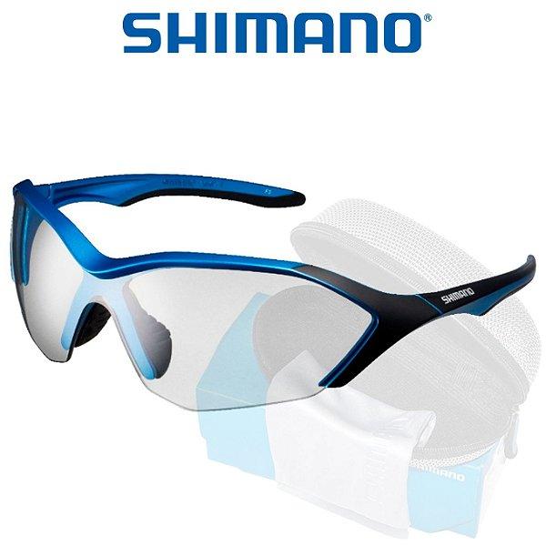 Óculos Shimano Serie R CE S71R  Azul Metalico C/ Preto
