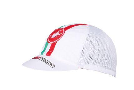 Boné Castelli Boné Castelli - Rosso Corsa - Branco