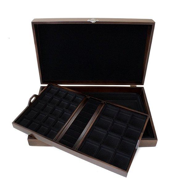 Caixa para joias modelo 1 envelhecida forro preto
