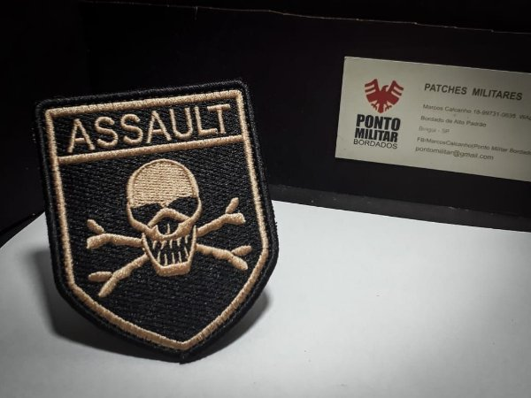 Patch Assault Caveira-Airsoft -Paintball