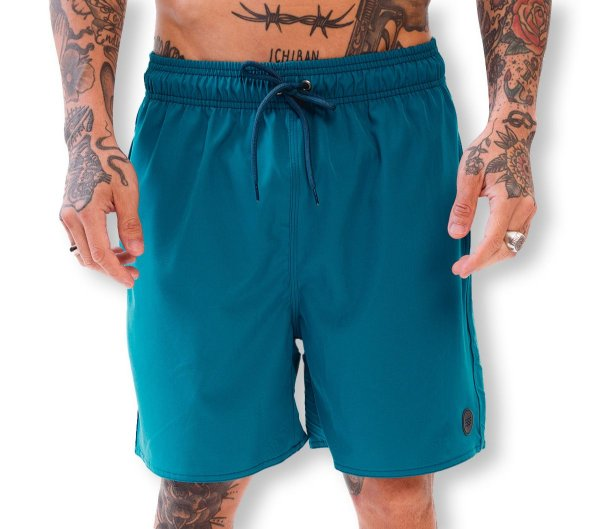 Shorts Elastano Azul Turquesa