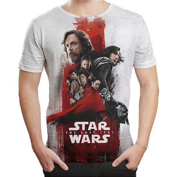 Camiseta Masculina Star Wars VIII 8 MD04