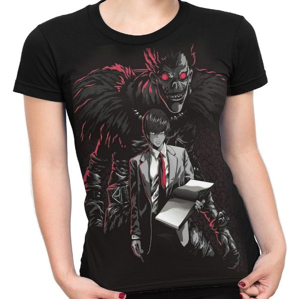 f9c4b1cc9 Camiseta Baby Look Feminina Death Note Ryuk Light Turner Md2 - Smart4Me