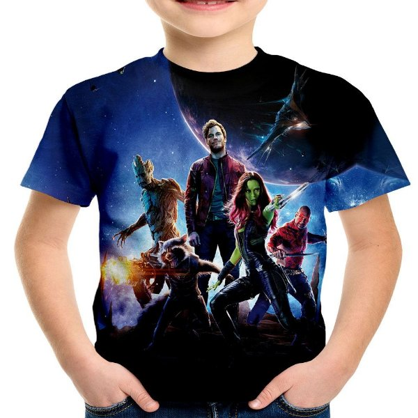Camiseta Infantil Guardiões da Galáxia Estampa Total MD03