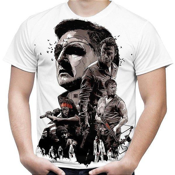 Camiseta Masculina The Walking Dead Estampa Total Md01