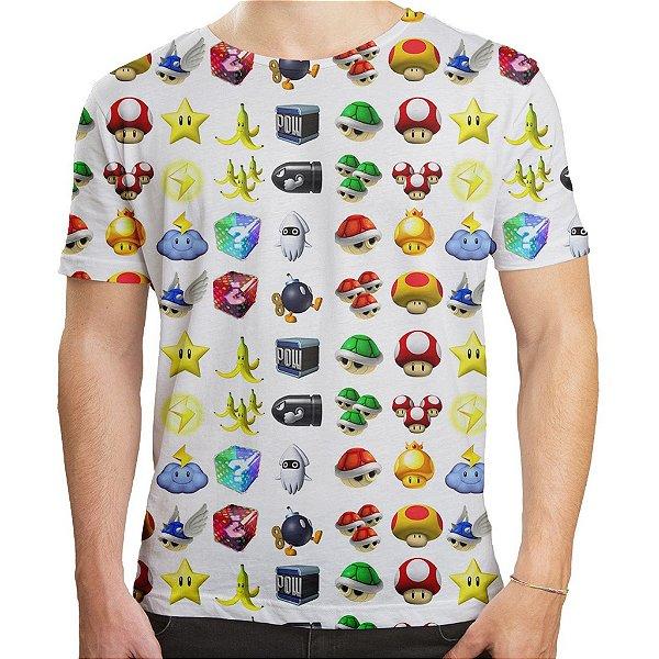 Camiseta Masculina Super Mário Bros Icones Md05